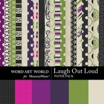 Laugh Out Loud Paper Pack-$3.99 (Word Art World)