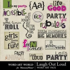 Laugh out loud paint word art medium