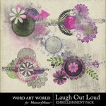 Laugh Out Loud Paint Cluster Pack-$2.49 (Word Art World)