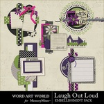 Laugh Out Loud Cluster Pack-$2.49 (Word Art World)