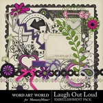 Laugh Out Loud Embellishment Pack-$3.29 (Word Art World)