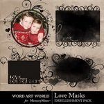 Love Masks Embellishment Pack-$3.29 (Word Art World)