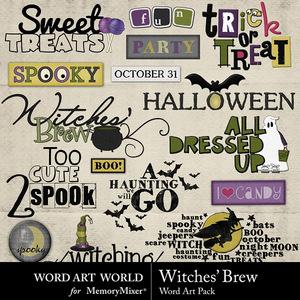 Witches brew word art medium