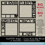 Crazy 4 Cats Big Words Pack-$2.99 (Ettes and Company by Fayette)