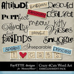 Crazy 4 Cats WordArt Pack-$2.49 (Ettes and Company by Fayette)