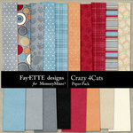 Crazy 4 Cats Paper Pack-$2.99 (Ettes and Company by Fayette)