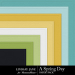 A Spring Day LJ Embossed Paper Pack-$3.49 (Lindsay Jane)