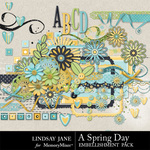 A Spring Day LJ Embellishment Pack-$3.49 (Lindsay Jane)