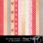 Happy Together Paper Pack-$3.49 (Fly Pixel Studio)