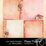 Happy Together Stacked Paper Pack-$3.49 (Fly Pixel Studio)