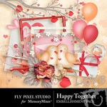 Happy Together Embellishment Pack-$2.99 (Fly Pixel Studio)