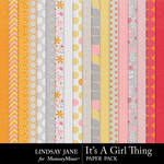 Its A Girl Thing Paper Pack-$3.49 (Lindsay Jane)