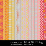 Its A Girl Thing Pattern Paper Pack-$3.99 (Lindsay Jane)