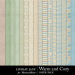 Warm and Cozy Paper Pack-$3.49 (Lindsay Jane)