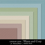 Warm and Cozy Embossed Paper Pack-$1.99 (Lindsay Jane)