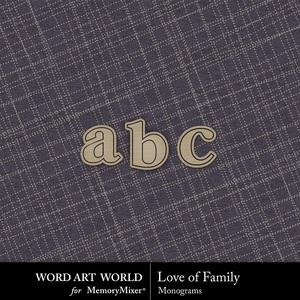 Love of family monograms medium