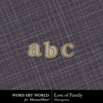 Love of Family Alphabet Pack-$0.99 (Word Art World)