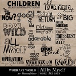 All By Myself WordArt-$2.49 (Word Art World)