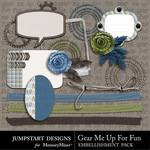 Gear Me Up For Fun ADD ON Embellishment Pack-$3.99 (Jumpstart Designs)