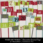 December Journal Tags-$2.99 (Word Art World)