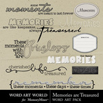 Memories Are Treasured WordArt-$2.49 (Word Art World)
