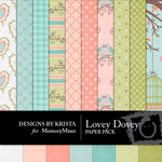 Lovey Dovey DBK Paper Pack-$3.49 (Designs by Krista)