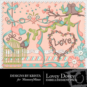 Loveydovey embellishments medium