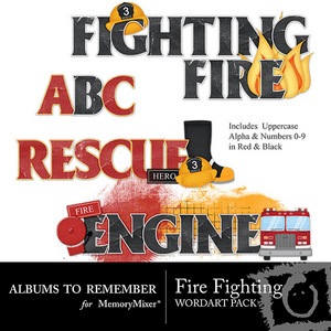 Fire fighting words preview medium