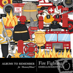 Fire Fighting Embellishment Pack-$2.99 (Albums to Remember)