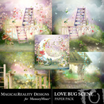 Love Bug Scene Paper Pack-$3.99 (MagicalReality Designs)
