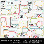 Lets Talk About It Embellishment Pack-$2.49 (Sweet Poppy Studio)