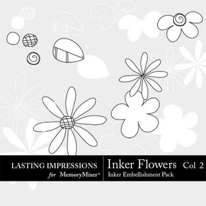 Inker flowers col 2 medium