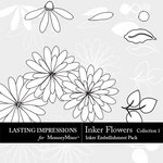 Inkers Flowers Collection 1 Pack-$2.99 (Lasting Impressions)