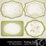 Feelings Tags-$1.99 (Indigo Designs)