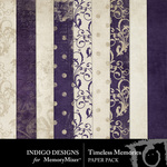 Timeless Memories Paper Pack-$2.99 (Indigo Designs)