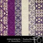 Timeless Memories Paper Pack 2-$2.99 (Indigo Designs)
