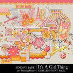 Its A Girl Thing Embellishment Pack-$3.49 (Lindsay Jane)