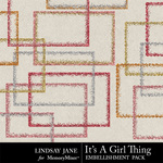 Its A Girl Thing Glitter Frames-$1.99 (Lindsay Jane)