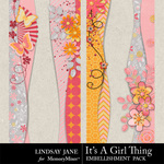 Its A Girl Thing Borders Pack-$1.99 (Lindsay Jane)