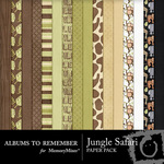 Jungle Safari Paper Pack-$2.00 (Albums to Remember)