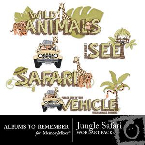 Jungle safari wordart preview 1 medium