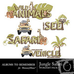 Jungle Safari WordArt-$1.50 (Albums to Remember)