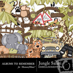 Jungle Safari Embellishment Pack-$1.50 (Albums to Remember)
