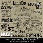 The Music In Me WordArt-$2.49 (Word Art World)