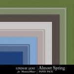 Almost Spring Embossed Paper Pack-$1.99 (Lindsay Jane)