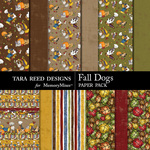 Fall Dogs Paper Pack-$2.99 (Tara Reed Designs)