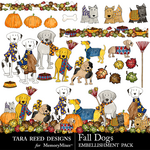 Fall Dogs Embellishment Pack-$2.99 (Tara Reed Designs)