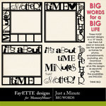 Just a Minute Big Words-$2.99 (Fayette Designs)