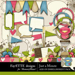 Just a Minute Add On Embellishment Pack-$3.99 (Fayette Designs)