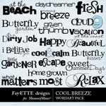 Cool Breeze WordArt Pack-$2.49 (Ettes and Company by Fayette)